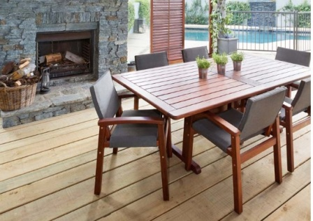 Wooden outdoor table and chairs nz b wall decal for Outdoor furniture auckland